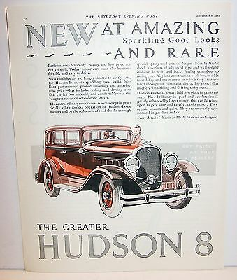 1930 the greater Hudson 8 4 Door ad