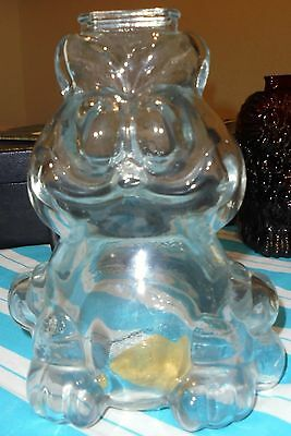 1978 Garfield Glass Coin Bank By Anchor-Hocking Comp.