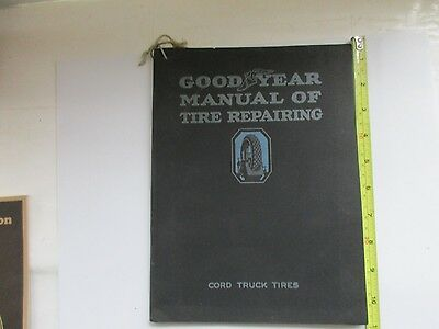 Vintage 1920 Goodyear Tire Repair Manual for Cord Truck Tires