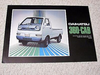 1970's DAIHATSU 360 (JAPAN) SALES BROCHURE..