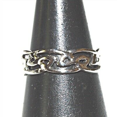 925 Solid Silver Celtic Knot Design Adjustable Toe Ring~Wicca~Pagan~Jewellery #1