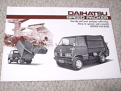 1970's DAIHATSU SPEED PACKER (JAPAN) SALES BROCHURE..