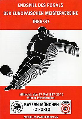 1987 European Cup Final    Bayern Munich V Porto
