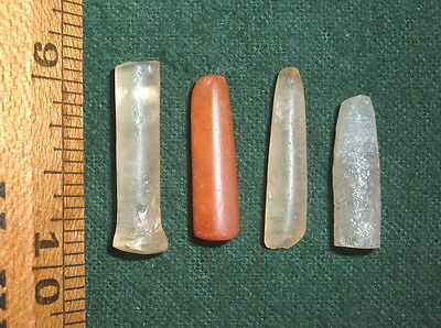 "(4) (@1"") Sahara Neolithic Plugs/Labrets W/Damage, Prehistoric African Artifacts"