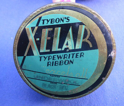 Tybon's X-Elar Typewriter Ribbon TIN Philadelphia Pennsylvania Underwood