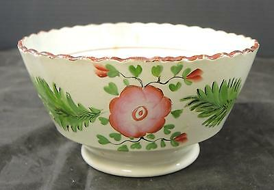 Very Early Antique Soft Paste Serving Bowl * Floral Decor