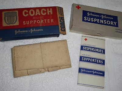 2 Vtg Johnson J&j   Coach Athletic Supporter In Box And Box For Suspensory