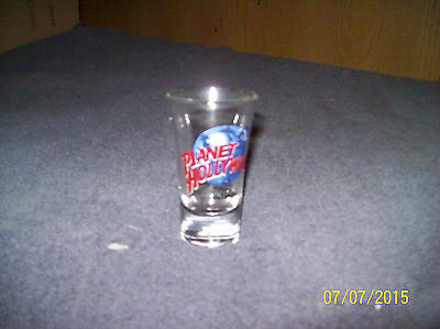 Clear Glass Orlando Planet Hollywood Shot Glass