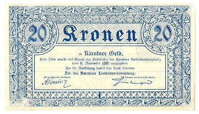 Austria P-S103 20 Kronen 1918 Emergency Bank Note