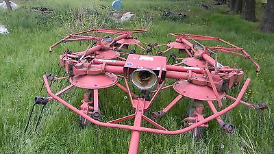 Vintage New Holland Hay Tedder Nh169 Works Great Some New Parts See Scans