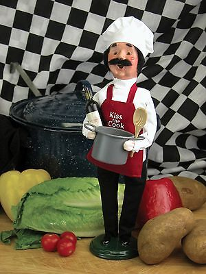 Byers Choice KISS THE COOK Chef Retired VHTF Perfect 4 Mother's Day Father's Day