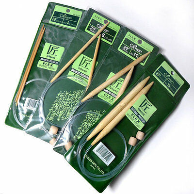 Clover Takumi Premium Bamboo Circular Knitting Needles - Many Sizes & Lengths