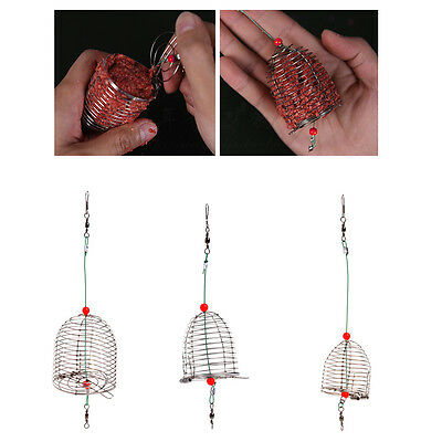 Small Bait Cage Fishing Trap Basket Feeder Holder Fishing Tackle Accessory Tool