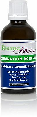 NEW!!  DERMA SOLUTIONS Glycolic / Lactic  Combination Acid Chemical Peel Kit!