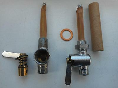 Triumph BSA Norton Main Petrol Tap With Tapered Brass Ethanol Fuel Seal UK MADE