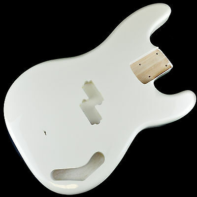 Precision Bass Electric Guitar Body 2 Piece USA Alder - Olympic White