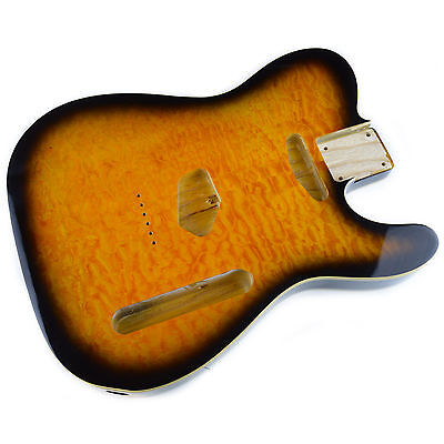 2 Tone Sunburst Body for telecaster, American Ash, With Quilted Maple Top
