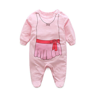 Newborn Boy Girls Winter Hooded Romper Long Sleeve Outfits Jumpsuit Clothes 80^