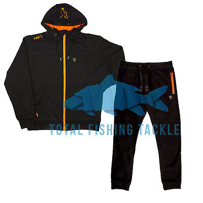 Fox NEW Version Black and Orange Heavy Fleece Lined Hoody and Joggers Combo