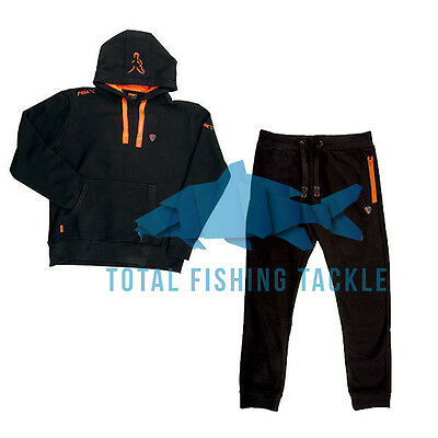 Fox NEW Version Black and Orange Hoody and Joggers Trousers Combo *All Sizes*