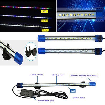 White Blue LED Waterproof Aquarium Lamp Fish Tank LED Submersible Light 20-50cm