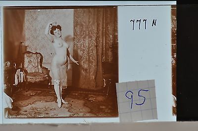 Stereoscopic Photography  Nude  , Glass Stereo Slide , 1905 Aprox.   N. 95
