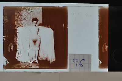 Stereoscopic Photography  Nude  , Glass Stereo Slide , 1905 Aprox.   N. 96