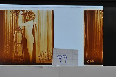 Stereoscopic Photography  Nude  , Glass Stereo Slide , 1905 Aprox.   N. 99
