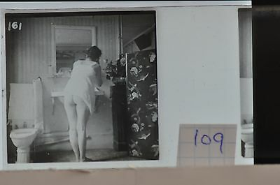 Stereoscopic Photography  Nude  , Glass Stereo Slide , 1905 Aprox.   N. 109