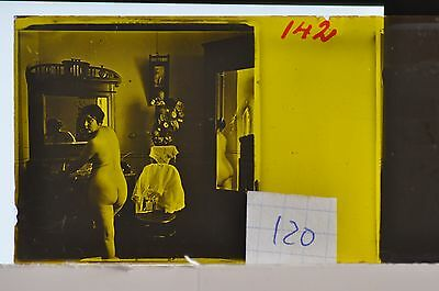 Stereoscopic Photography  Nude  , Glass Stereo Slide , 1905 Aprox.   N. 120