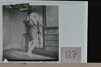 Stereoscopic Photography  Nude  , Glass Stereo Slide , 1905 Aprox.   N. 127