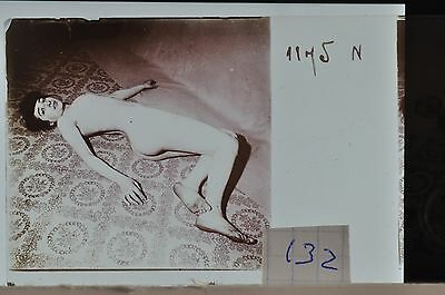 Stereoscopic Photography  Nude  , Glass Stereo Slide , 1905 Aprox.   N. 132