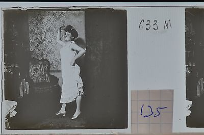 Stereoscopic Photography  Nude  , Glass Stereo Slide , 1905 Aprox.   N. 135