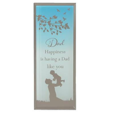Reflections of the Heart Mirror Glass Standing Plaque Gift – Dad