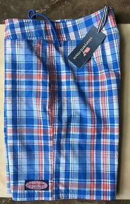 NWT Vineyard Vines Boys PLAID BOARD SHORTS SWIM TRUNKS,L (16),$55
