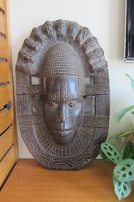 Very Large Heavy Vintage / Antique African Carved Wooden Mask