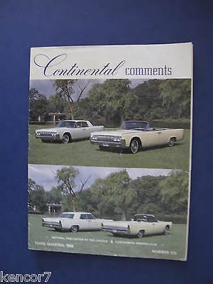 1988 Lincoln And Continental Owners Club Brochure D6459