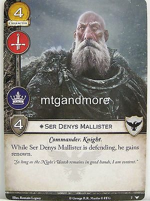 2x Denys mallister #048 A Game of thrones