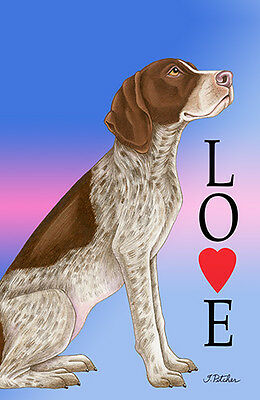 Large Indoor/Outdoor Love (TP) Flag - German Shorthair Pointer 60049