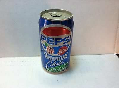 Pepsi Tropical Chill  BO aluminum 12oz soda pop can - with tropical fruit flavor