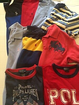 Ralph Lauren Polo Spring/Summer Lot Of 9 Shirts Boys Size L