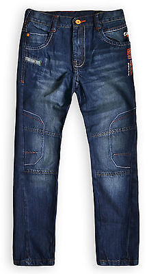 Boys Jeans New Kids Straight Leg Denim 100% Cotton Blue Trousers Ages 4 - 14 Yrs