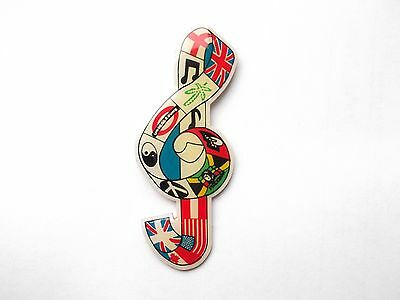 MUSICAL NOTE LOVE OF MUSIC PEACE TOP QUALITY ENAMEL LAPEL BROOCH PIN BADGE 99p