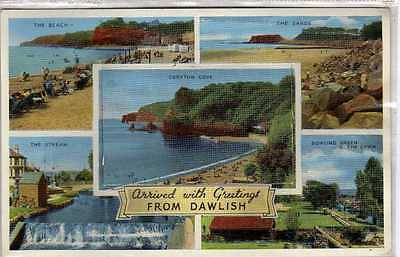(Lb2183-168) Pull Out,  Multiview, DAWLISH,  Unused, VG+