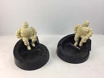 Pair Of 2 VINTAGE MICHELIN MAN ASHTRAY 1930's USA ORIGINAL Tires Advertising