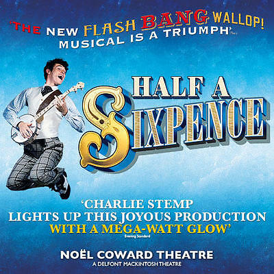 HALF A SIXPENCE Ticket & Meal Package - SPECIAL OFFER with TOP PRICED SEAT