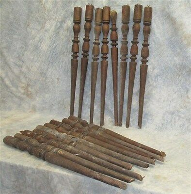 17 Wood Spindles Fretwork Balusters Porch Post Architectural Salvage Vintage a