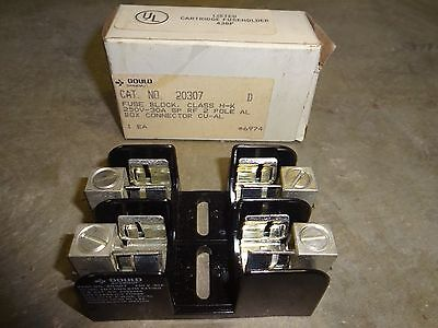 Gould 20307 Fuse Block 250 Vac, 30 Amp, 2 Pole New