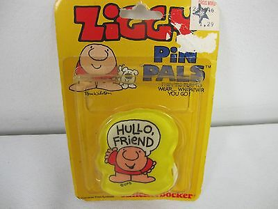 Ziggy Pin Pals Hullo Friend Vintage Knickerbocker New In Package Tom Wilson
