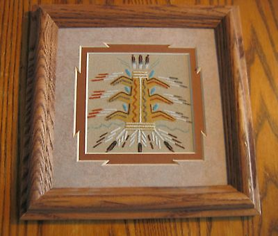 Original  Navajo Sand Painting by Daniel Smith, Jr  COA on back